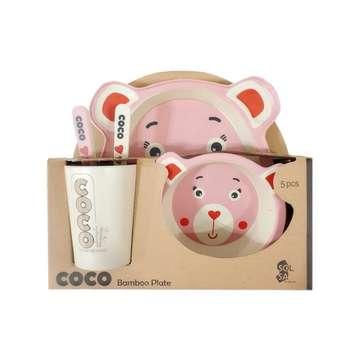 ظرف غذا 5 تکه کودک کوکو مدل خرس مهربون