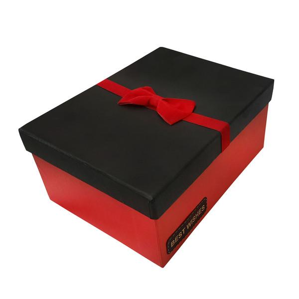 جعبه هدیه طرح پاپیون مدل BEST WISHES کد 101030