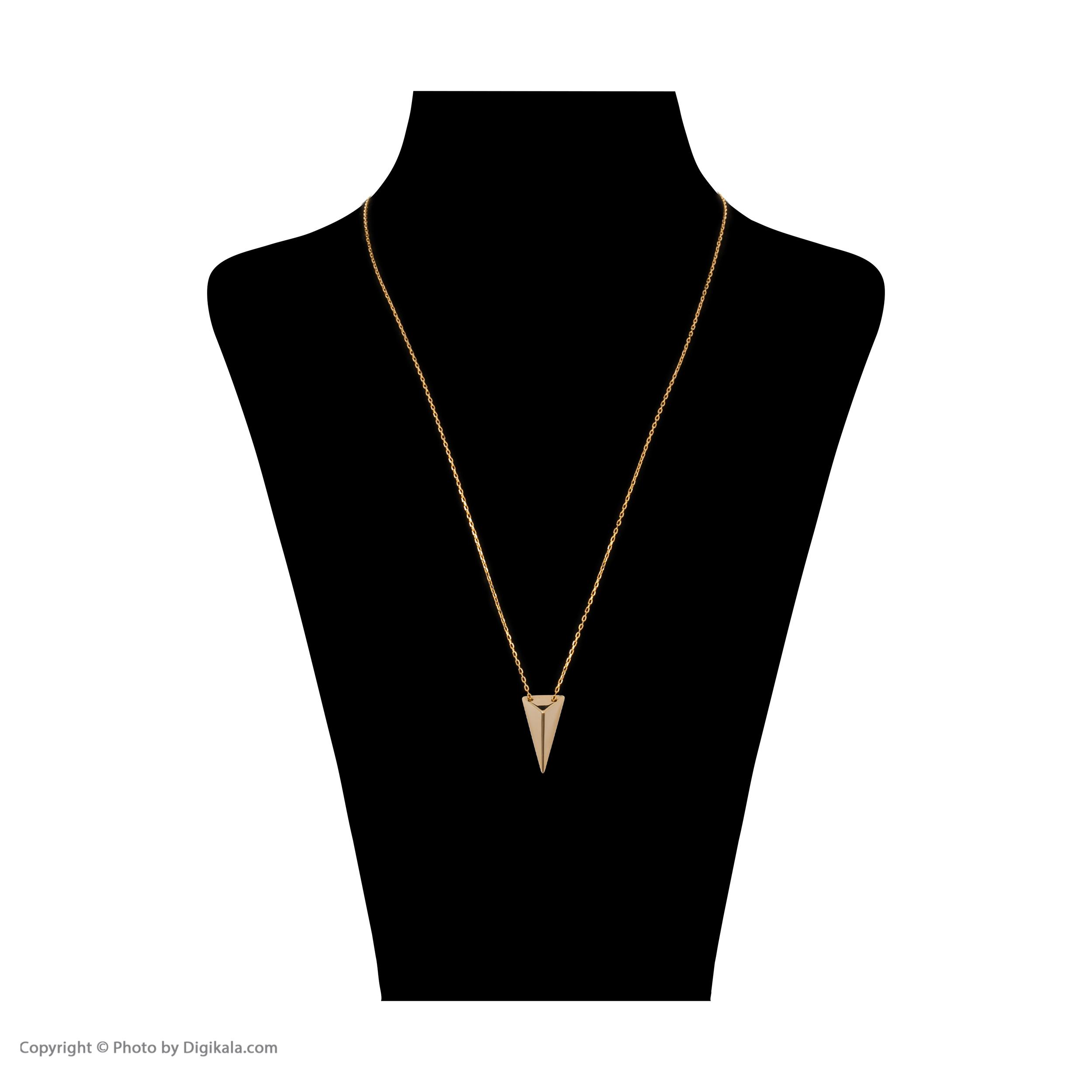 گردنبند طلا 18 عیار زنانه سنجاق مدل X074732 -  - 3