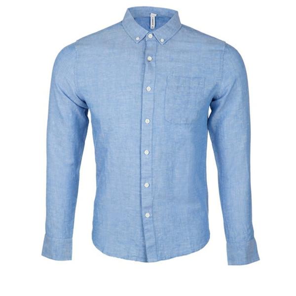 پیراهن آستین بلند مردانه جین وست مدل 47856