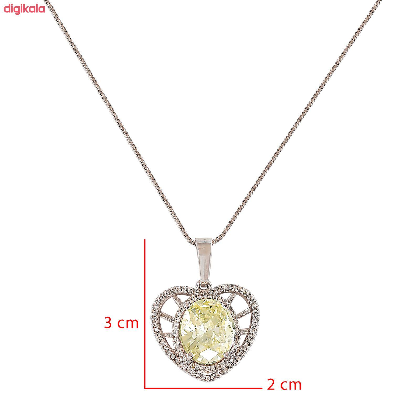 گردنبند زنانه ژوپینگ طرح قلب کد XP274 main 1 4