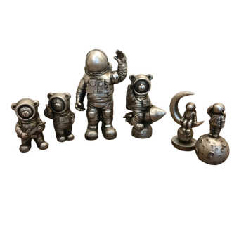 مجسمه مدل فضانورد مجموعه 6 عددی