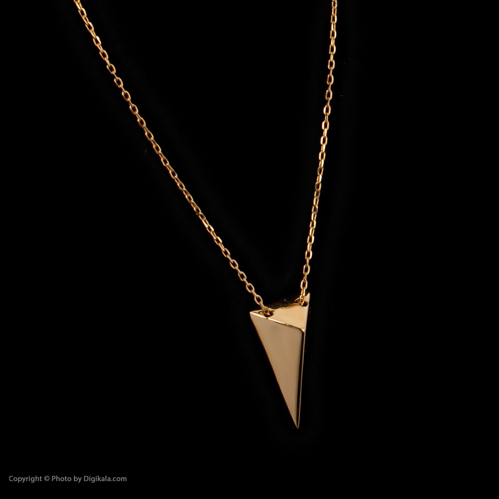 گردنبند طلا 18 عیار زنانه سنجاق مدل X074732 -  - 4
