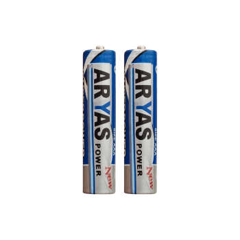 باتری نیم قلمی آریاس کد AS-15 بسته 2 عددی