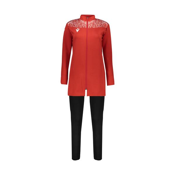 ست گرمکن و شلوار ورزشی زنانه مکرون مدل چندا رنگ قرمز