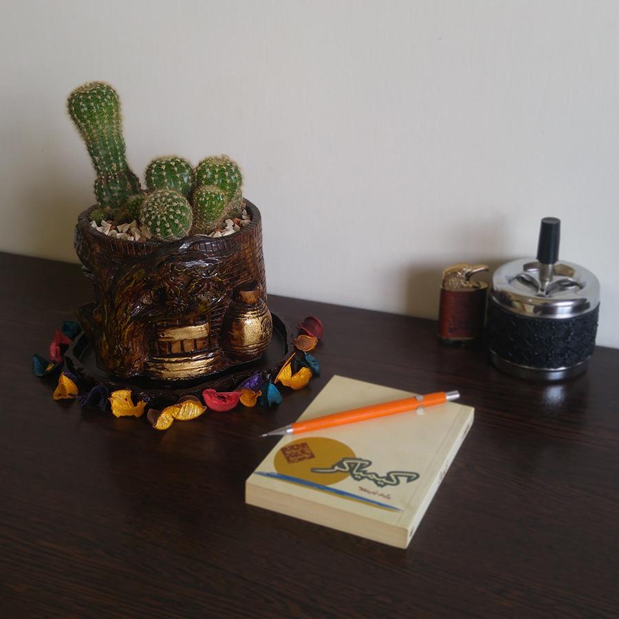 گلدان طرح خانه آجری کد A13