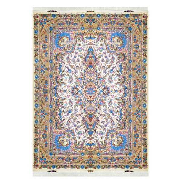 فرش دستباف نه متری مدل لچک ترنج کد 8001 یک جفت
