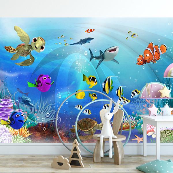 پوستر دیواری اتاق کودکطرح آکواریوم کد 15659712