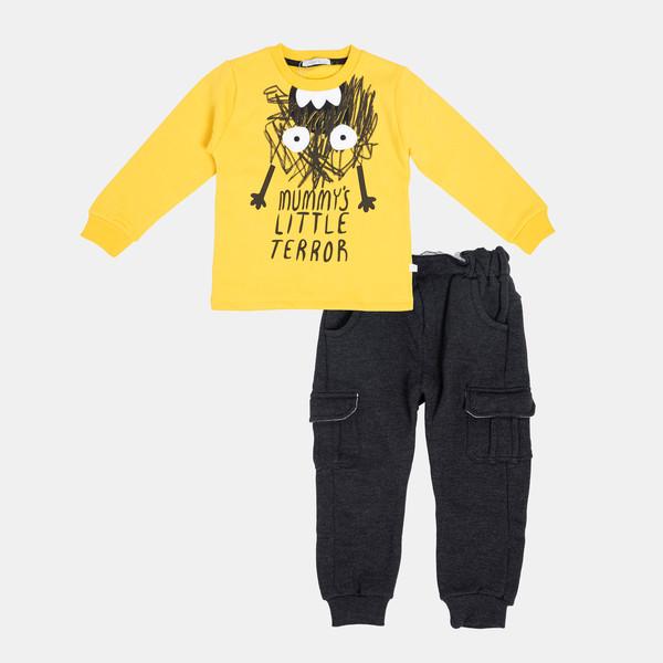 ست تی شرت و شلوار نوزادی پسرانه فیورلا مدل چرکولک کد 20510
