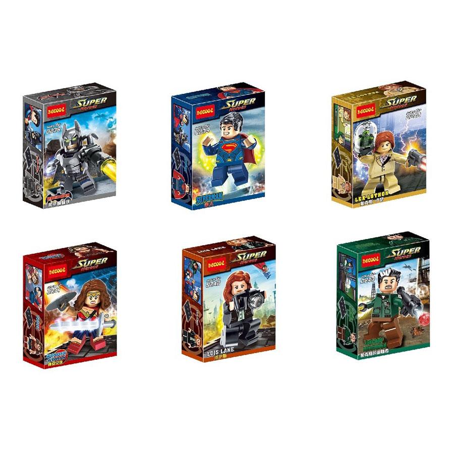ساختنی دکول مدل قهرمانان دی سی کد 02383 مجموعه 6 عددی