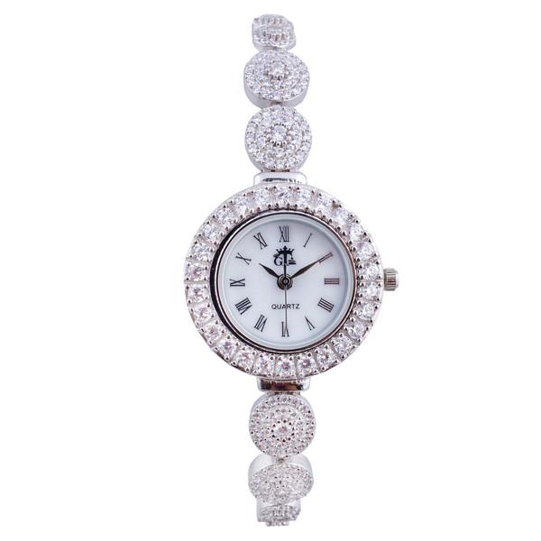 ساعت مچی عقربه ای زنانه مدل جواهری AMT_012