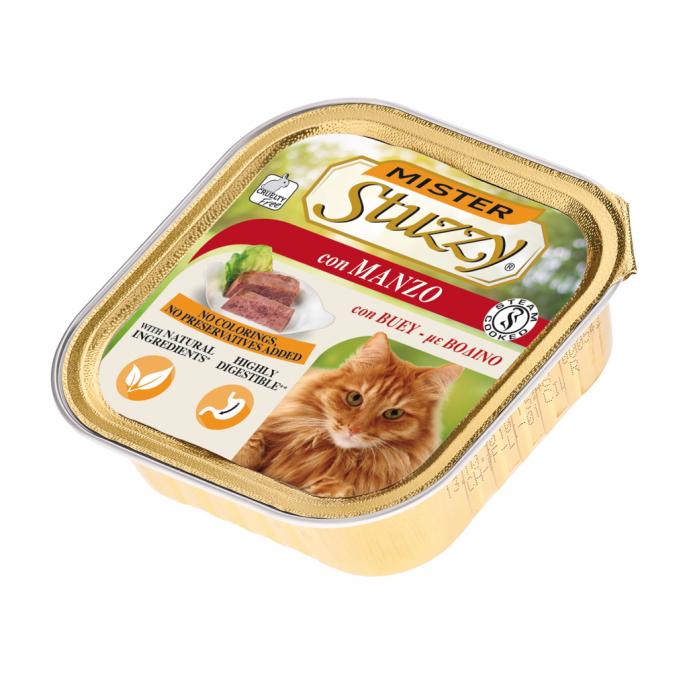 کنسرو غذای گربه استوزی مدل بیف وزن 100 گرم