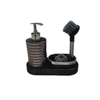 پمپ مایع ظرفشویی مدل sahar همراه با فرچه و سیم ظرفشویی