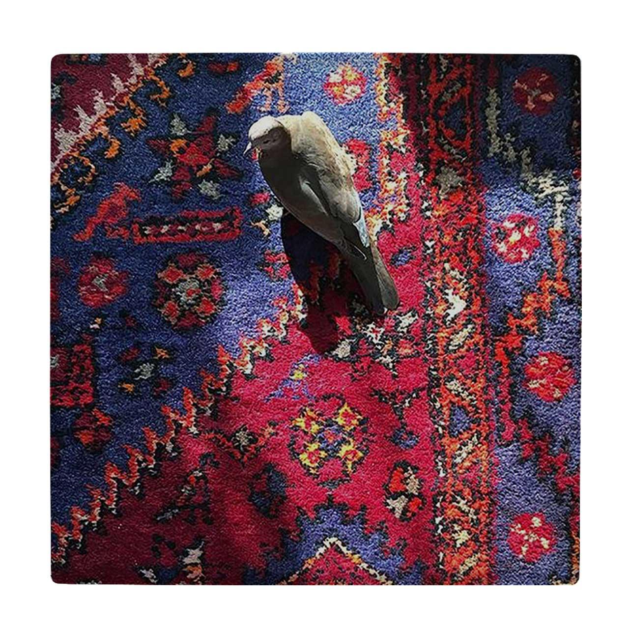 کاشی کارنیلا طرح فرش ایرانی و کبوتر مدل لوحی کد WKB578