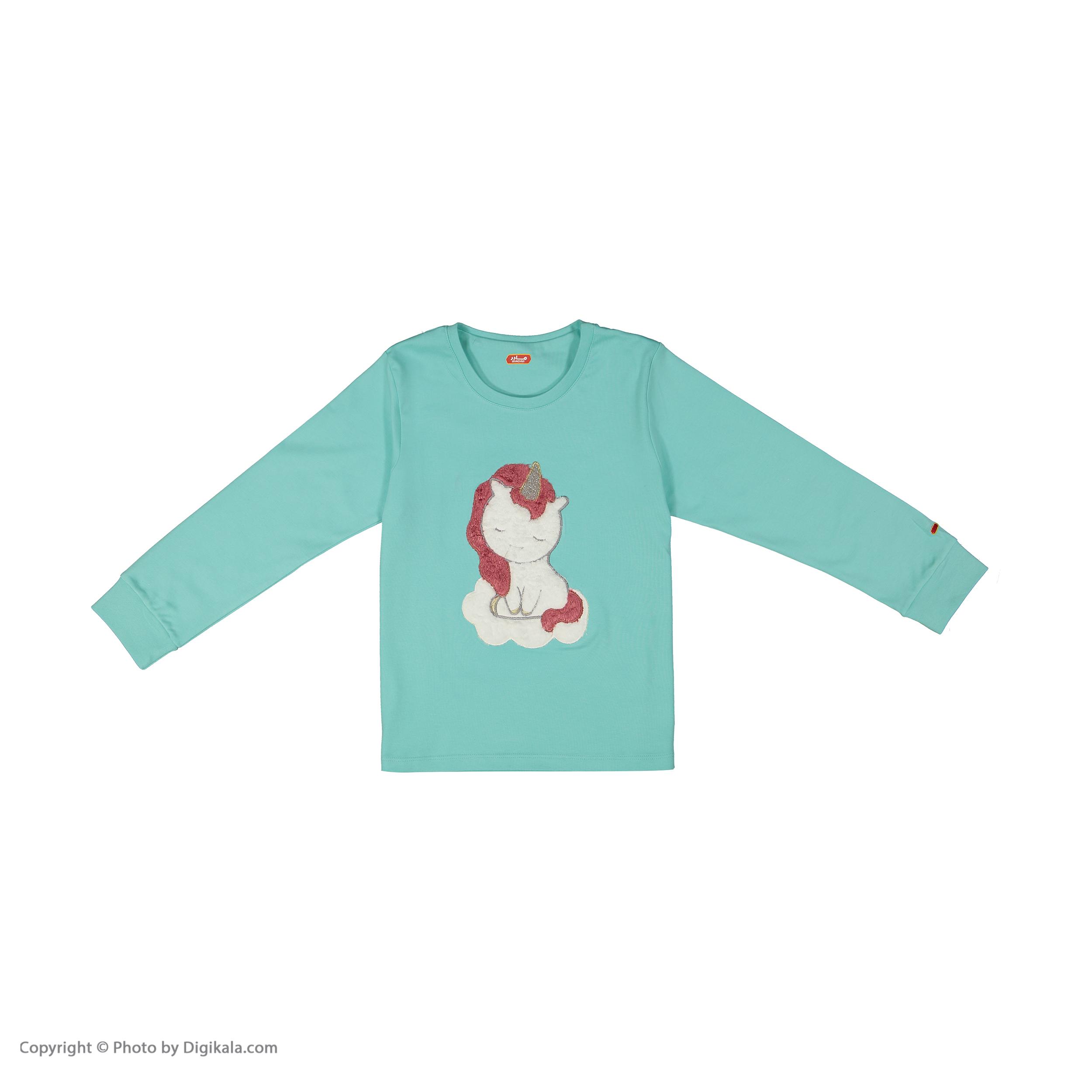 ست تی شرت و شلوار دخترانه مادر مدل 303-54 main 1 4