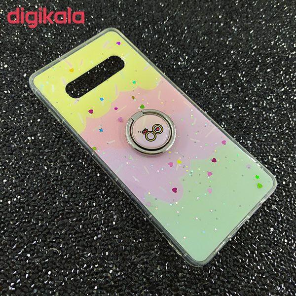 کاور مدل SA398A مناسب برای گوشی موبایل سامسونگ Galaxy S10 plusبه همراه پایه نگهدارنده