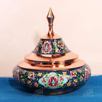 شکلات خوری مس و پرداز رنگ سورمه ای طرح سفینه ای  مدل 1001200052
