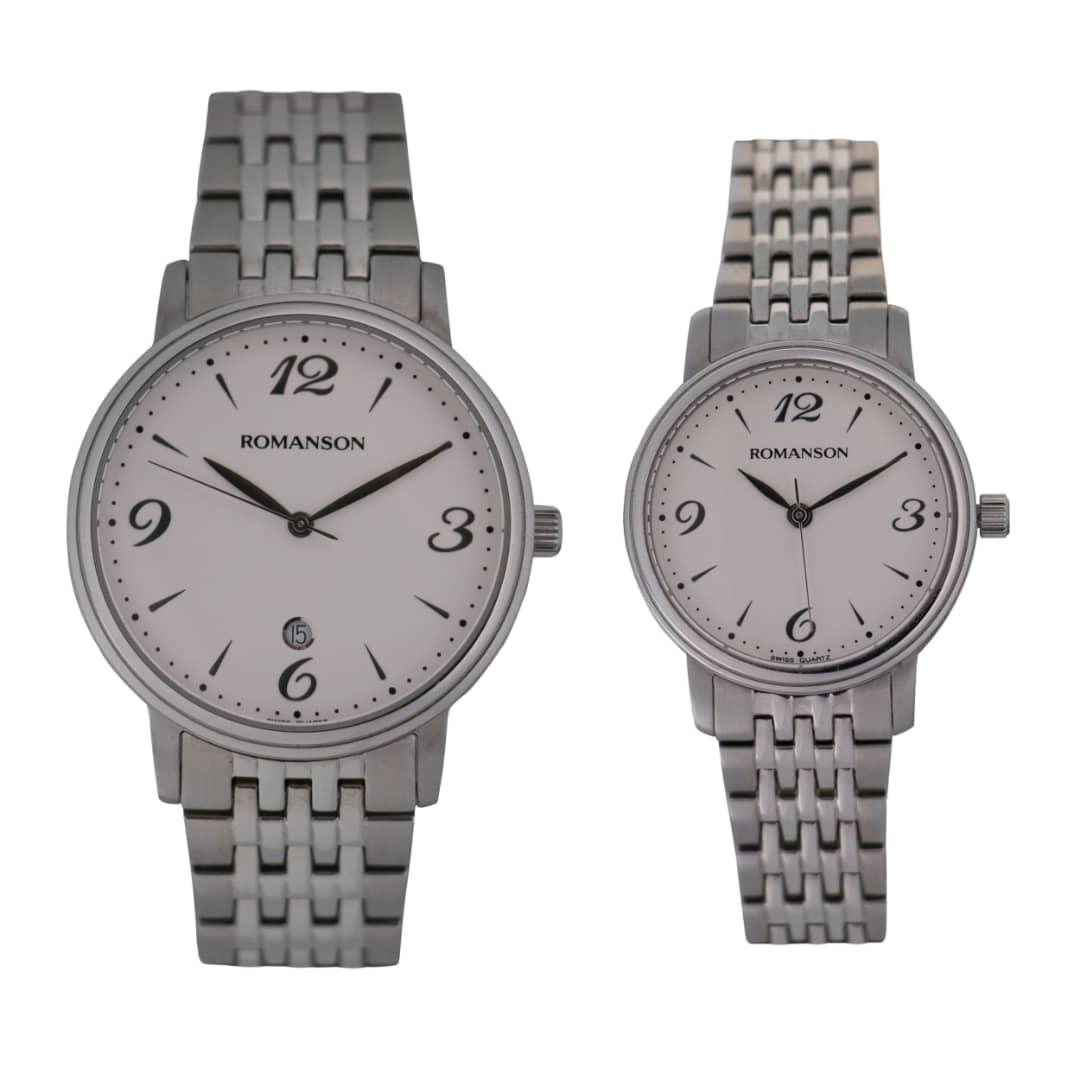 قیمت                      ست ساعت مچی عقربه ای زنانه و مردانه رومانسون مدل TM4259ML