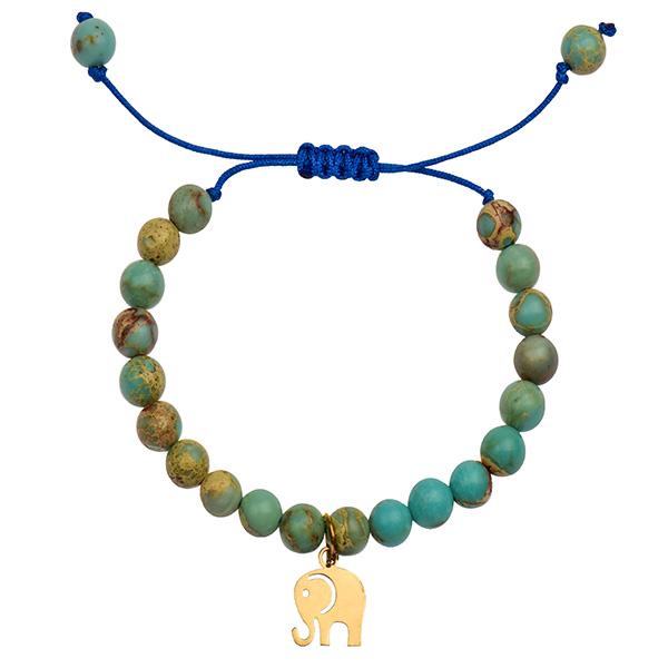 دستبند طلا 18 عیار دخترانه کرابو طرح فیل مدل Krd1032