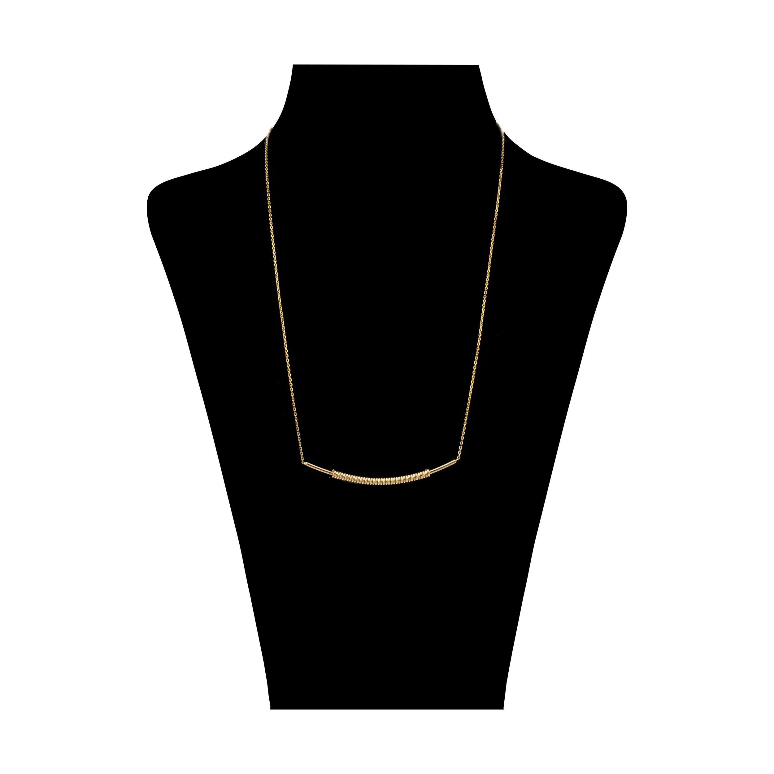 گردنبند طلا 18 عیار زنانه سنجاق مدل x068683