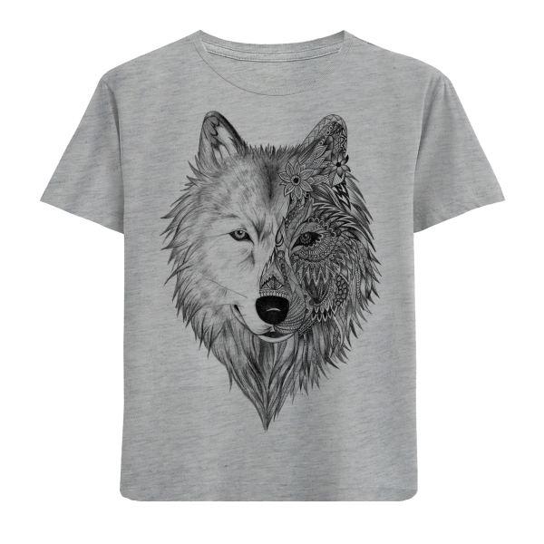تی شرت پسرانه مدل گرگ F398