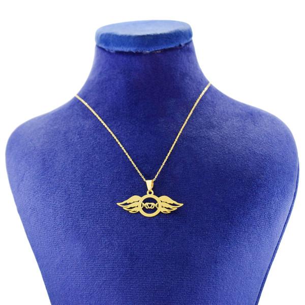 گردنبند طلا 18 عیار زنانه کانیار گالری طرح مادر مدل NE115