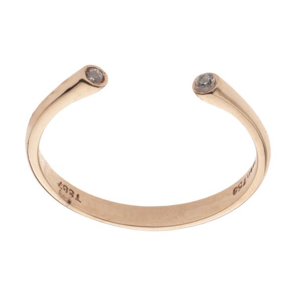 انگشتر طلا 18 عیار زنانه مدیسا مدل R6009-55