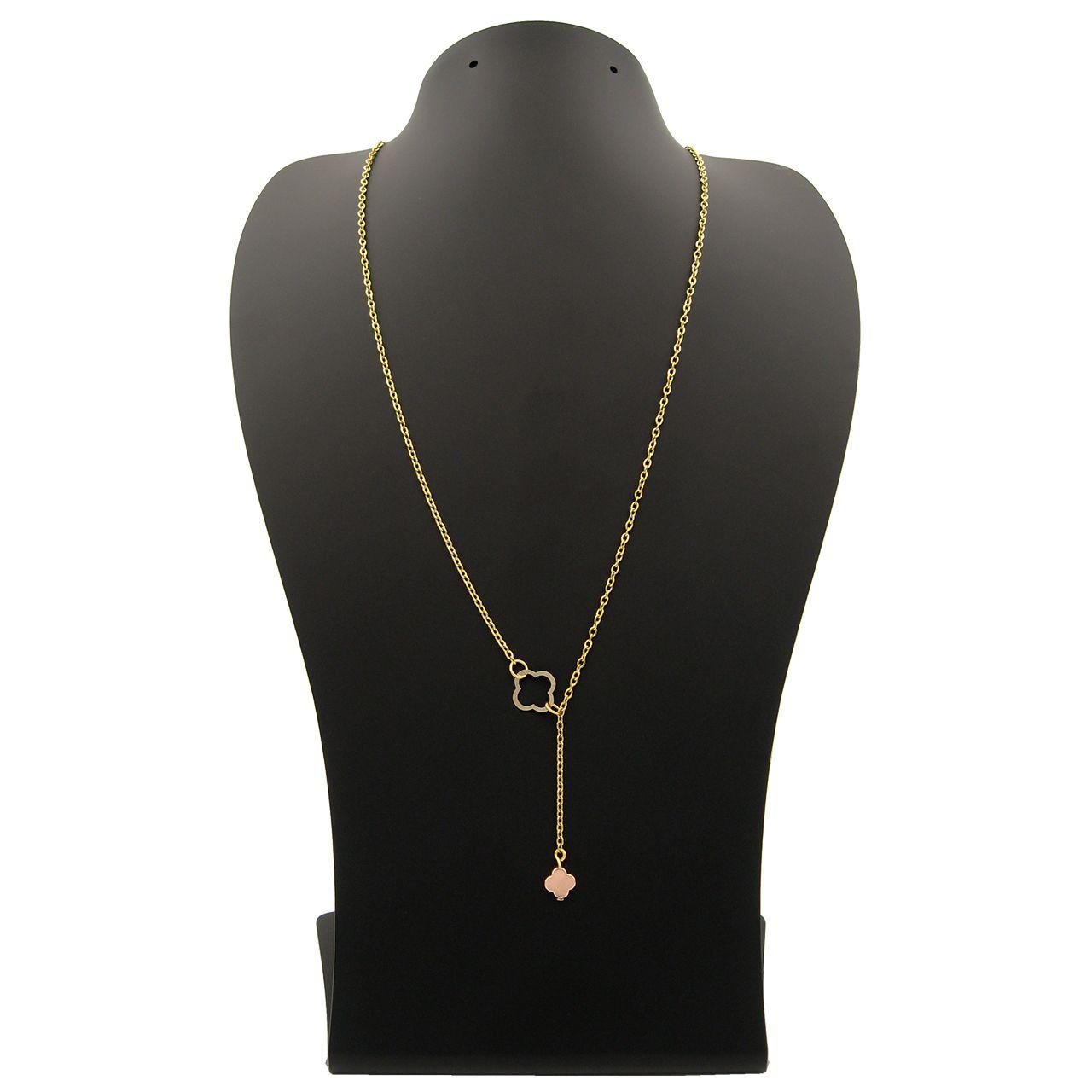 گردنبند طلا 18 عیار زنانه مانچو کد sfg652 -  - 2