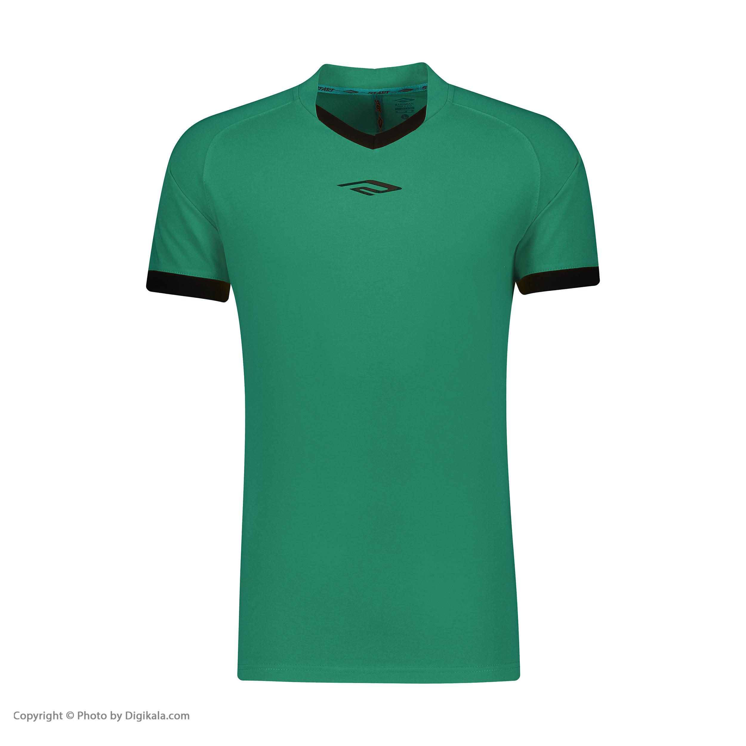 ست تیشرت و شلوارک ورزشی مردانه استارت مدل v1001-2 -  - 5
