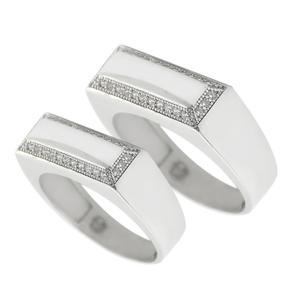 ست انگشتر نقره زنانه و مردانه مدل z12345009