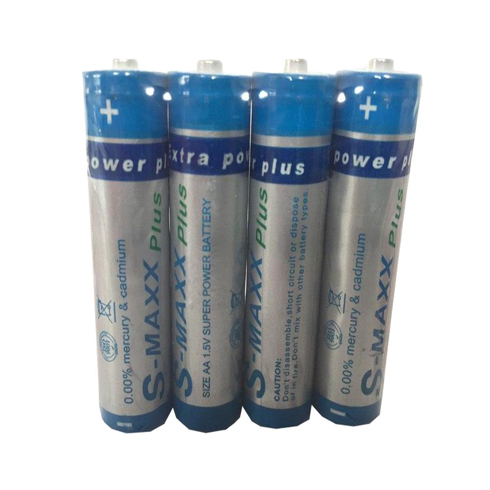 باتری  قلمی اس مکس مدل super power بسته ۴ عددی