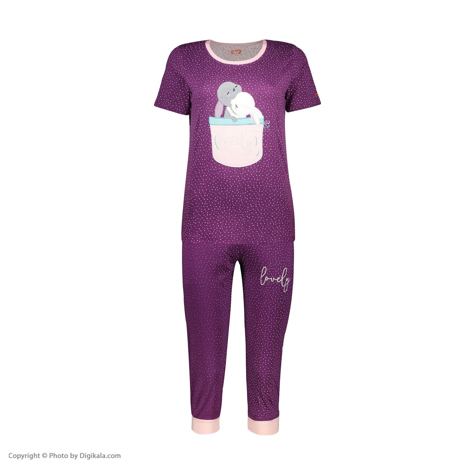 ست تی شرت و شلوارک راحتی زنانه مادر مدل 2041102-67 -  - 3
