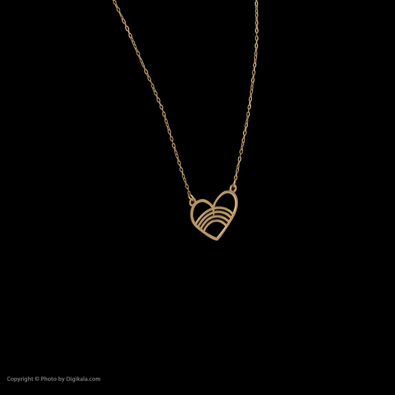 گردنبند طلا 18 عیار زنانه میو گلد مدل GD616 -  - 4