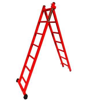 نردبان 14 پله ماندگار مدل صدف به همراه پایه تعادل