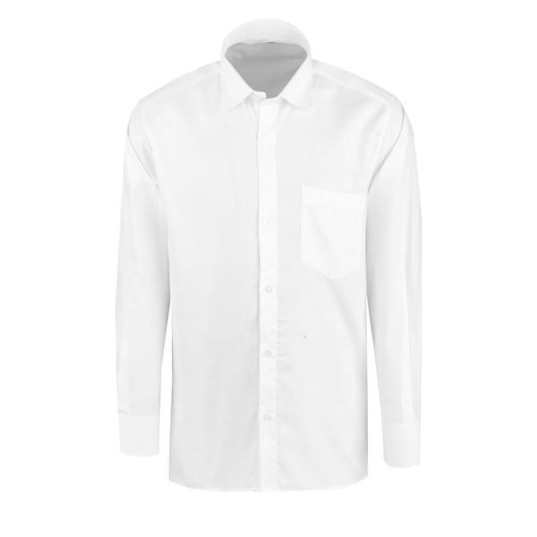 پیراهن آستین بلند مردانه مدل P-w11 رنگ سفید