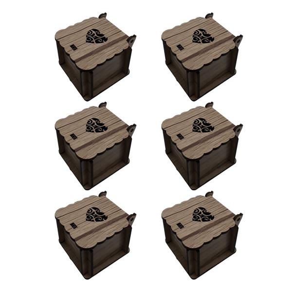 جعبه انگشتر کد JJ012 بسته 6 عددی