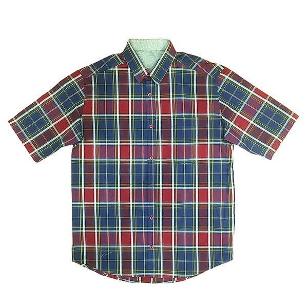 پیراهن آستین کوتاه مردانه مدل چهارخانه کد 02