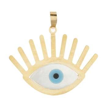 آویز گردنبند طلا 18 عیار زنانه باراد زر مدل چشم و نظر کد b301