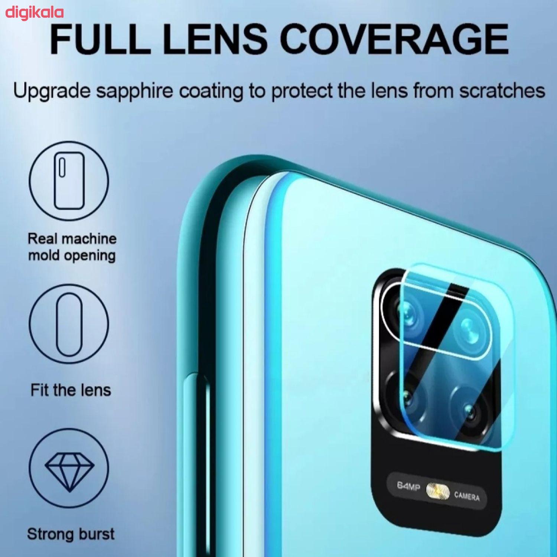 محافظ صفحه نمایش و پشت گوشی مدل RA-08 مناسب برای گوشی موبایل شیائومی Redmi note 9s/9 pro/pro max به همراه محافظ لنز دوربین main 1 3