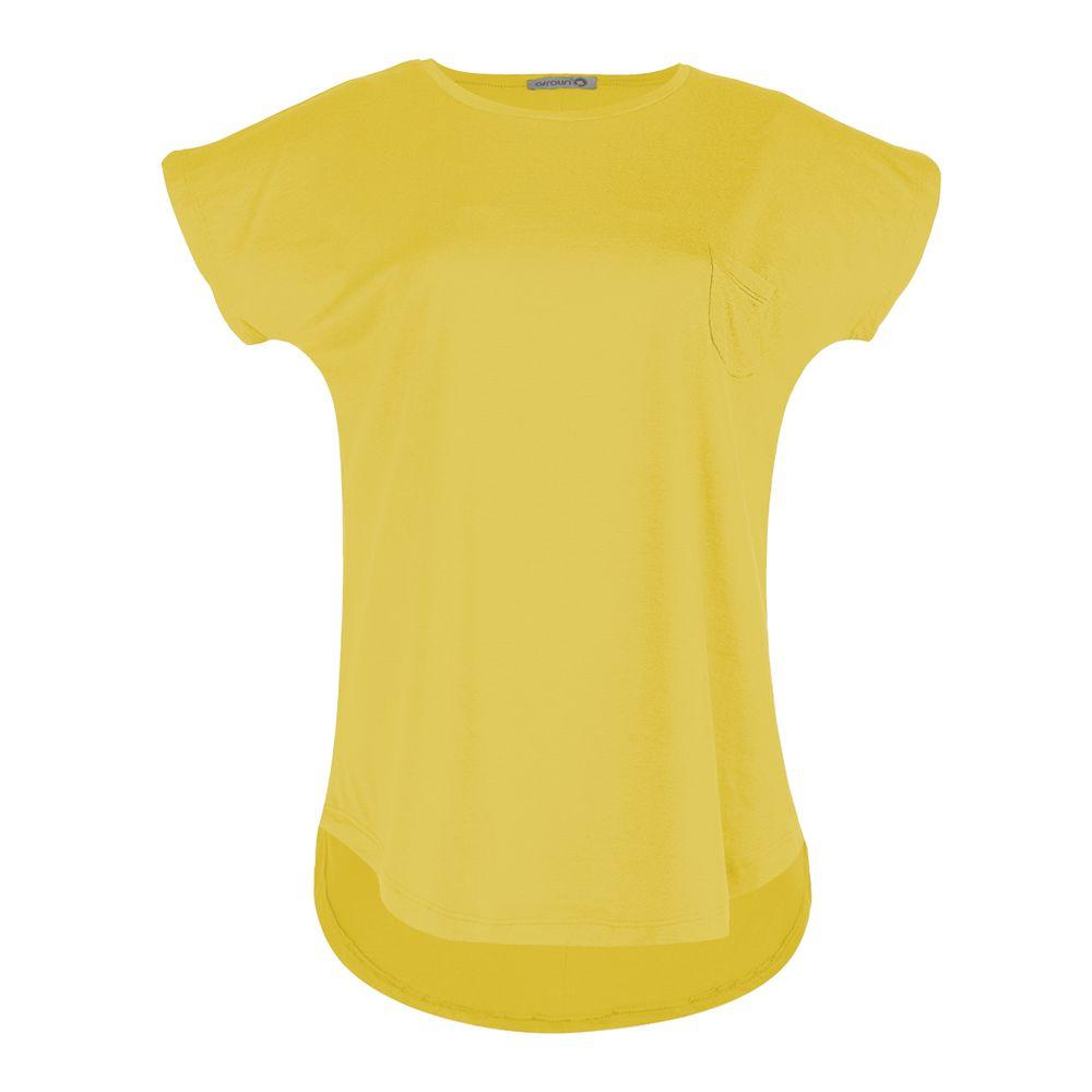تی شرت زنانه افراتین کد 2517 رنگ زرد