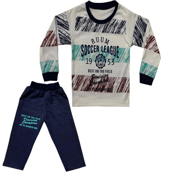 ست تی شرت و شلوار پسرانه کد 022