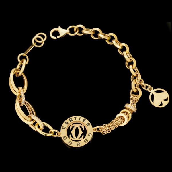 دستبند طلا 18 عیار زنانه طلای مستجابی کد 67157