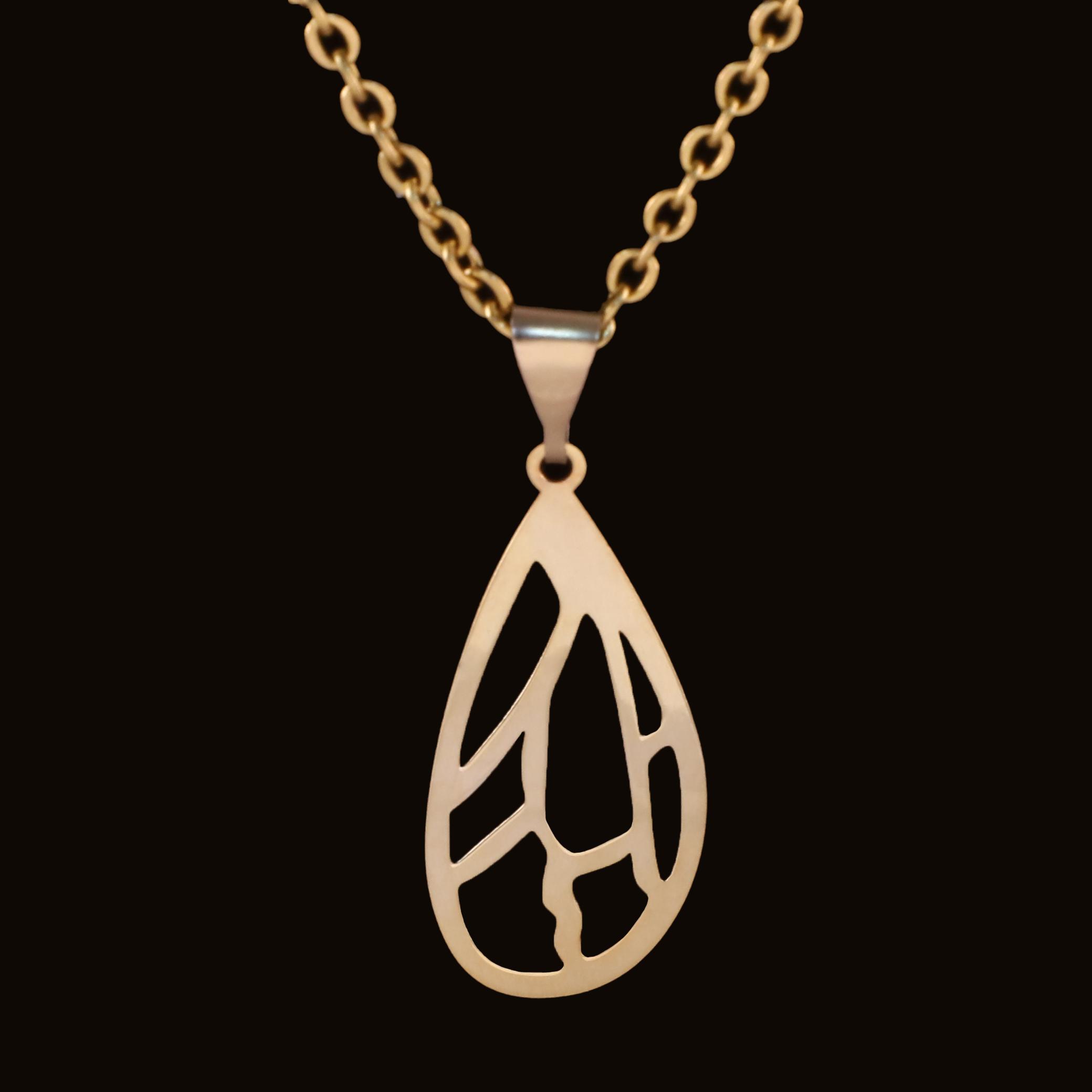 گردنبند طلا 18 عیار زنانه آمانژ کد D10031