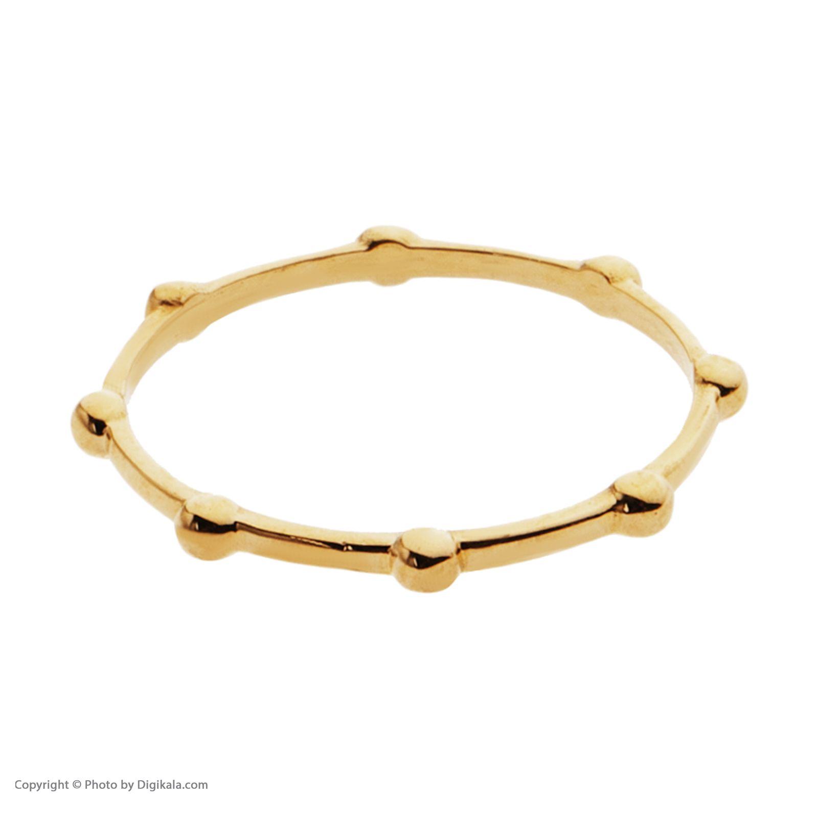 انگشتر طلا 18 عیار زنانه سنجاق مدل X090577 -  - 5
