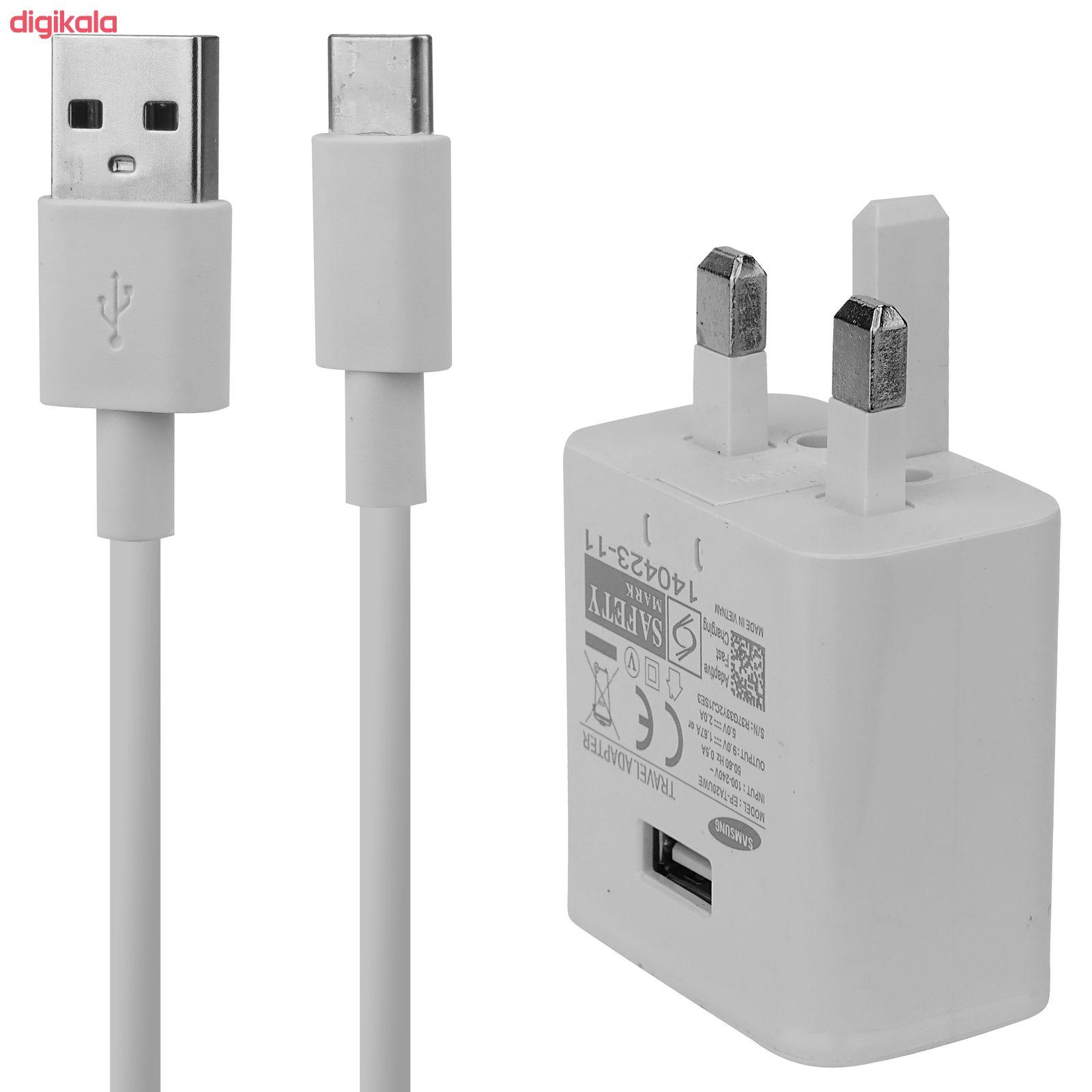 شارژر دیواری مدل EP-TA20UWE به همراه کابل تبدیل USB-C  main 1 1
