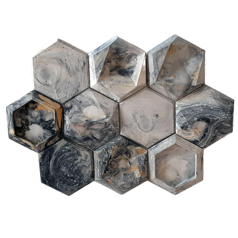 دیوارپوش مدل شش ضلعی تارکان بسته 20 عددی