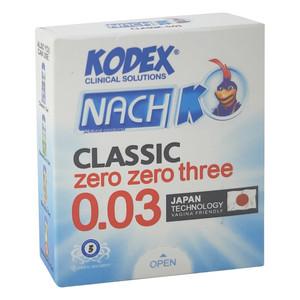 کاندوم ناچ کدکس مدل 0.03 بسته 3 عددی