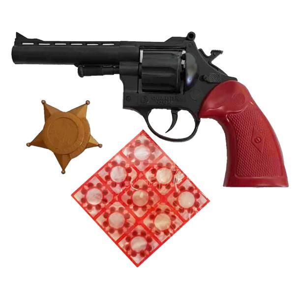 تفنگ بازی مدل کلانتر کد 112 مجموعه 3 عددی