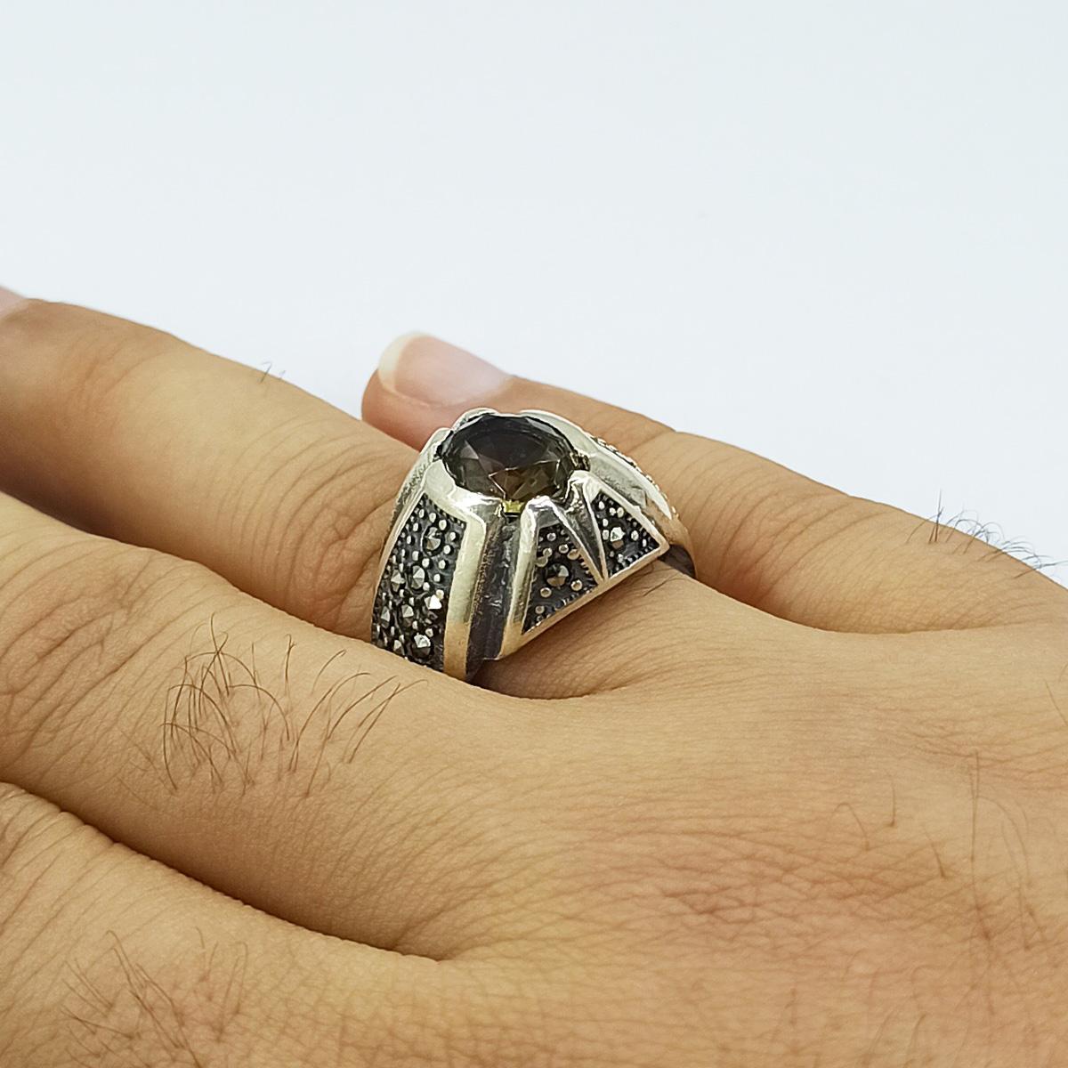 انگشتر نقره مردانه سلین کالا مدل الکساندریت کد ce-As120