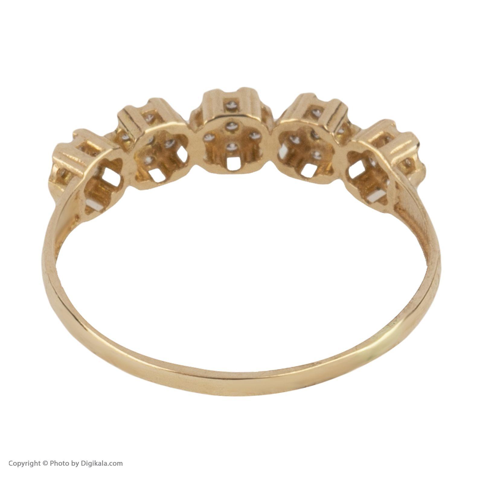 انگشتر طلا 18 عیار زنانه نیوانی مدل NR040 -  - 4
